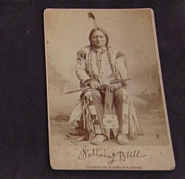 Carte De Visite Sitting Bull