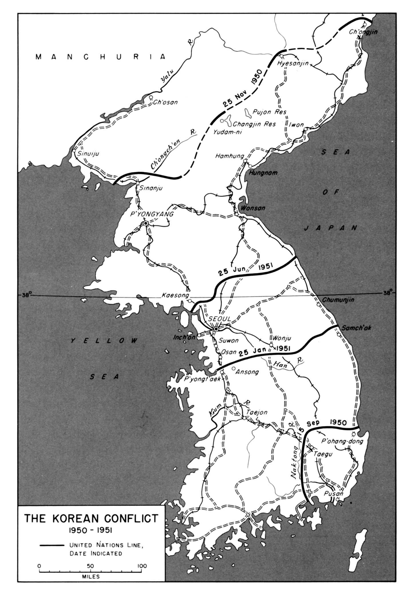 Map Of The Korean War